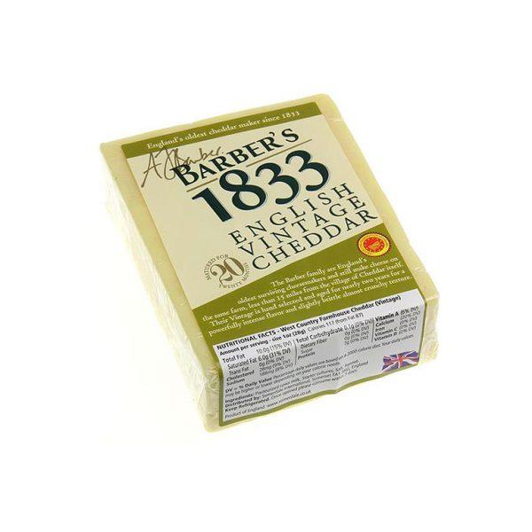 Cheese Barbers 1833 Vintage Cheddar